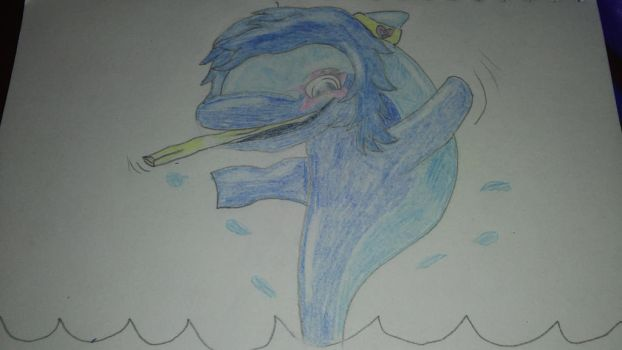 Sweet Giggle the Dolphin by PsychoYellowDragon