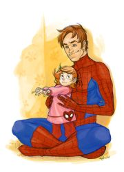 jam:  Spidey dad by Gingashi