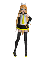 MMD Rin Future Style by megpoid625