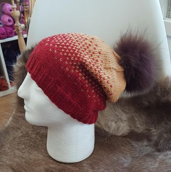 Accidental Gryffindor Ombre Slouch Hat by KnitLizzy