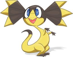 Helioptile/Elikiteru The frilled lizard Pokemon
