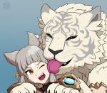 Byakko Licks Nia by Kairu-Hakubi