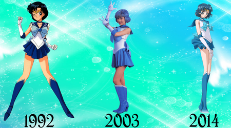 Sailor Mercury Over The Years by FlyingPrincess
