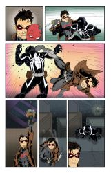 Red Hood vs Venom  page 5 color by Zaatis