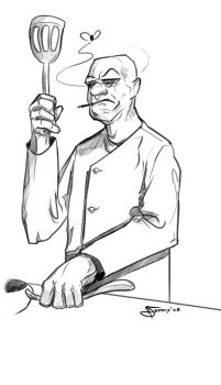 Chef Sketch by Narcot