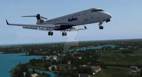 Final Approach: Skywest CRJ-700 by Invader-Tak2015