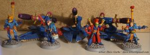 Eldar D-Cannons and Crew by NPlusPlus