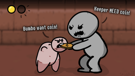 Bumbo want coin! by SkiddleZIzKewl