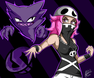 Team Skull: Female Grunt by RahkshiChao