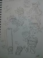 Another Eddsworld Sketchbook Dump w/ annoying pal by DeanEggs