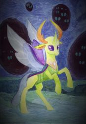 Leader of the changelings by Sanya-Mosaica