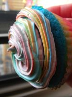Rainbow Cupcake by CthulhuFruitLoops
