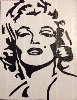 Marilyn Monroe (two color duct tape) by TheDucttapeBassist
