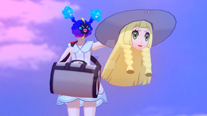 Get in the bag, Lillie! by Sarge-the-Umbreon