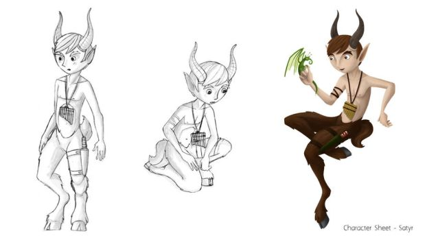 Satyr Concept - Poses by MiniMonsterMill