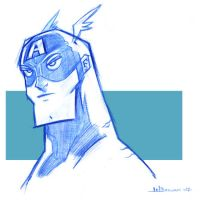 Captain America Sketch by WarBrown