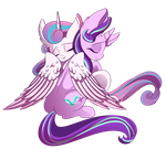 Starlight and Flurry by Hagallaz