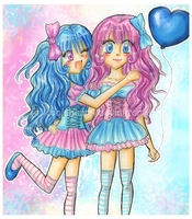 Cotton Candy Twins by Queen-Caffeine