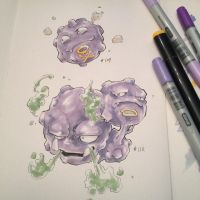pkmn of the day- Coffing and Weezing