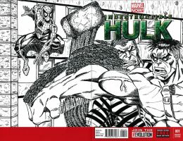 INDESTRUCTIBLE HULK #1 SKETCH COVER FINAL INKS by FanBoy67