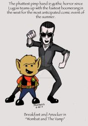 Wombat and Vamp by CharismaKillsStudios