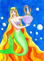 mermaid with shell bag by hananovie