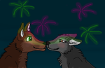 Enjoying Fireworks by Wolf--Prime