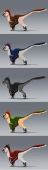 Concept - Giant Raptor color variations by ArtKitt-Creations