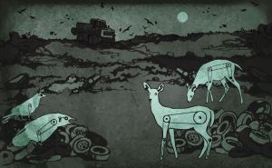 night at the landfill by yennie