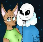 Sans and Doll by FoxyTthePirateFoxGir