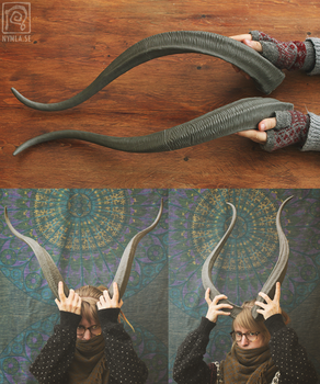 Large resin horns - now on Etsy by Nymla