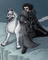 JonSnow and Ghost by Stnk13