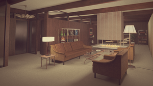 1960s living room by erkucrunk