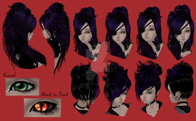 Drezdan - Hair and Eye Ref (IMVU) by FutureGrave