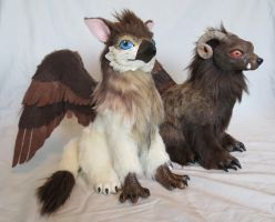 Griffin and Beast by kimrhodes