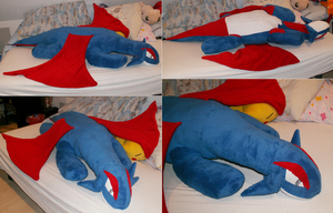 Giant lying Salamence Plush by Starfighter-Suicune