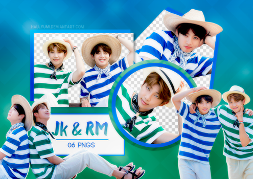 PNG PACK: BTS #14 (JK and RM) by Hallyumi