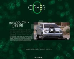 Cipher Website Content Page by Sunlandictwin