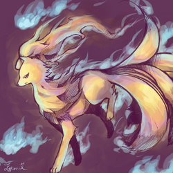 ninetales. by Effier-sxy