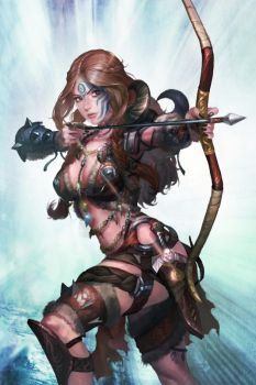 An archer lady of Pict tribe by paaz70
