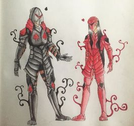 [Fantasy O.C.s] Spades and Hearts by EvilCharlotte