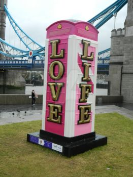 Pink PhoneBox (side 2) by SidneyLouiseMunns01