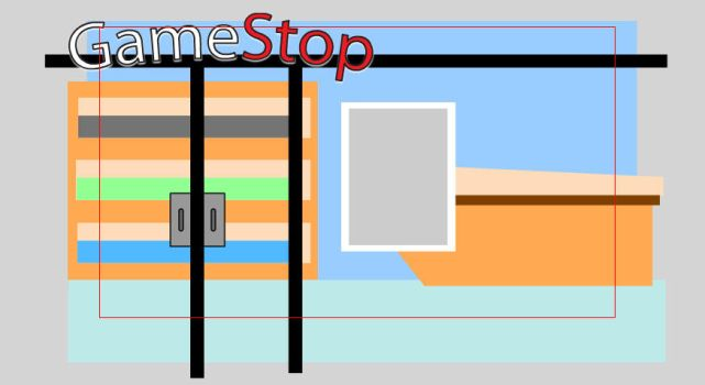 Gamestop Exterior by EmeyeX