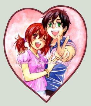 lovecard Harry and Ginny by lince