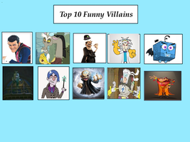 My Top 10 Funny Villains by Toongirl18