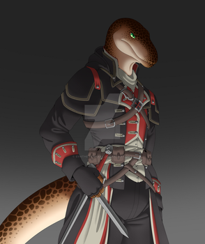 My Raptor Anthro Fursona - Leon