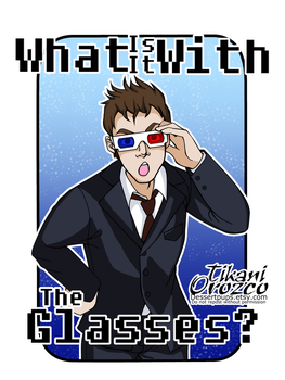 What is it with the glasses? 10th Doctor by MangoBara