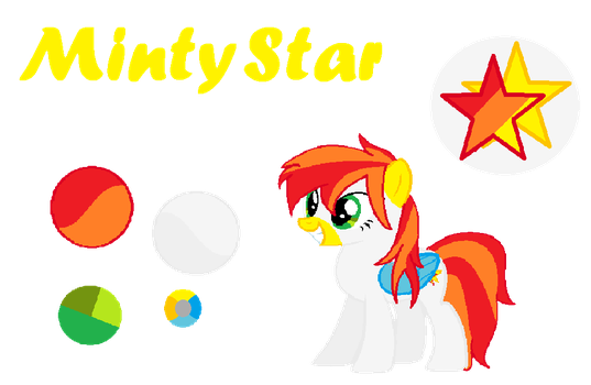 Minty Star OC Reference Sheet by CupcakeEdits20