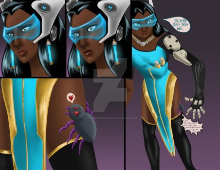 Overwatch comic commission - Symmetra by constancelea