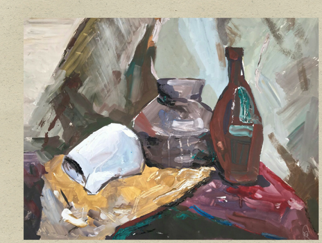 Still-life with a fallen jug by agevla77